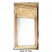Pair of Neoclassical Style Faux Marble Painted Mirrors