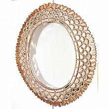 Gilt-Wood and Mirror Framed Mirror