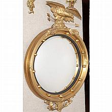 Regency Style Gilt-Wood Convex Mirror