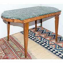 Neoclassical Style Marble Top Painted Center Table