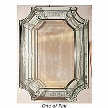 Pair of Venetian Style Mirror Framed Mirrors