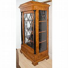 Biedermeier Style Part Ebonized Burl-Wood Vitrine