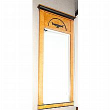Biedermeier Style Part Ebonized Maple Mirror
