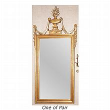 Pair of Neoclassical Style Gilt-Wood Mirrors