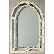 Foliate Framed White Painted Mirror