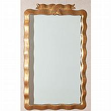 Gold Painted Ribbon Framed Mirror