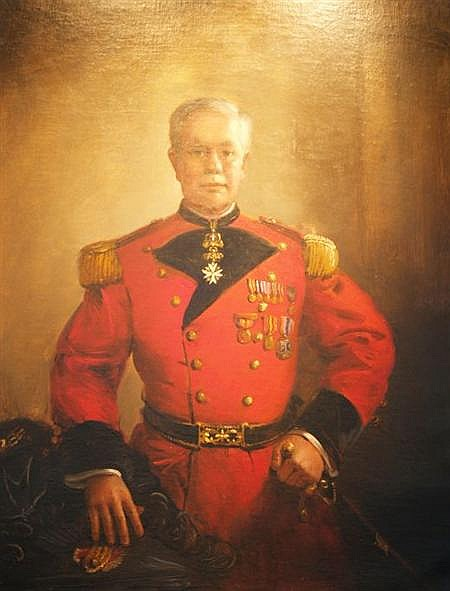 Frank Herbert Mason American, b. 1921 Portrait of George H. Fearons, Jr. in the Uniform of the Sovereign Military Order of Malta