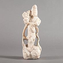 Chinese Marble Figure of a Maiden
