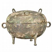 Chinese Bronze Covered Ding
