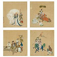 Chinese School: Four Album Paintings