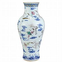 Chinese Famille Rose Glazed Porcelain Vase