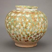 Chinese Sancai Glazed Pottery Jar