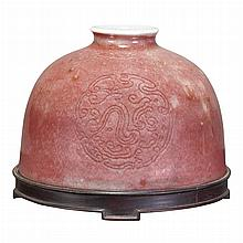 Chinese Peachbloom Glazed Porcelain Water Pot