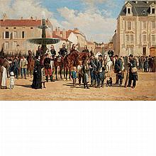 Jules Antoine Voirin French, 1833-1898 Garrison a Nancy, 1882