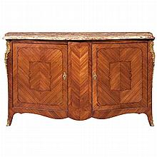 Louis XV Style Gilt-Metal Mounted Inlaid Kingwood Side Cabinet
