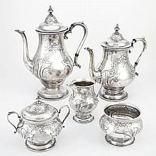 Alvin Sterling Silver Tea and Coffee Service