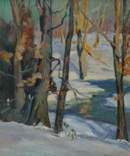 American School 20th Century A Winter Sketch