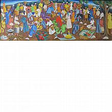 Castera Bazile Haitian, 1923-1965 Haitian Market, 1957