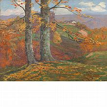 Carl Christopher Graf American, 1890-1947 Brown County, Autumn Hillside