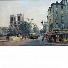 Constantine Kluge French, 1912-2003 Le Petit Pont, Paris