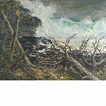 Andrew George Winter American, 1892-1958 Surf off Whitehead, Monhegan Island, Maine