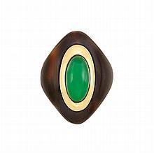 Gold, Tortoise Shell and Green Chrysoprase Ring, Boucheron, Paris