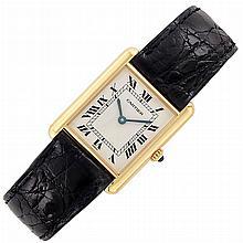 Gold 'Tank' Wristwatch, Cartier