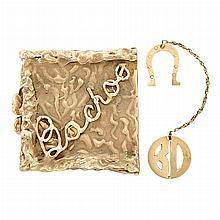 Gold Box and Horseshoe Fragment