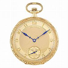 Gentleman's Gold Open Face Pocket Watch, Patek Philippe