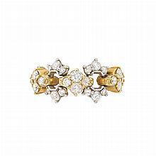 Flexible Gold, Platinum and Diamond Band Ring, Tiffany & Co.