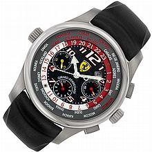 Gentleman's Titanium Chronograph World-Time Wristwatch, Girard-Perregaux