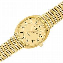 Gentleman's Two-Color Gold Wristwatch, Baume & Mercier