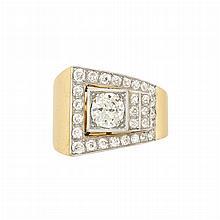Gold, Platinum and Diamond Ring, France