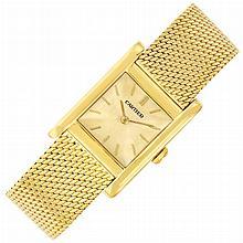 Gold 'Tank' Wristwatch, Cartier, European Watch & Clock Co.