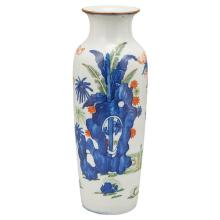 Chinese Wucai Glazed Porcelain Sleeve Vase