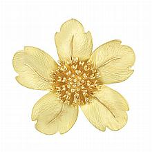 Gold Flower Brooch, Tiffany & Co.