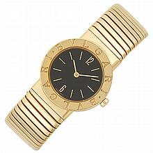 Lady's Gold 'Tubogas' Wristwatch, Bulgari