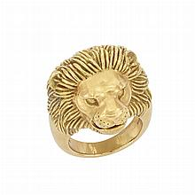 Gold Lion Head Ring, Tiffany & Co.
