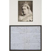 QUEEN VICTORIA Autograph letter regarding the hiring of a footman. Balmoral: 3 June 1871. Four page autograph letter on one...