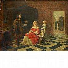 Circle of Gerard ter Borch 17th Century A Family in a Luxurious Interior