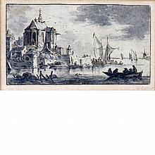 Dutch School 17th Century A Town Beside an Estuary
