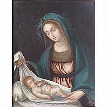 French School 17th Century Madonna and Child; Together with a Privincial European School