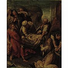 Antwerp School  17th Century The Entombment of Christ