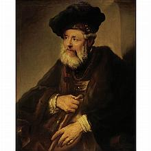 After Rembrandt van Rijn Old Man with a Walking Stick