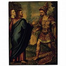 Flemish School 16th Century Christ and the Centurion