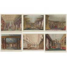 Various Artists ROYAL RESIDENCES Six hand-colored aquatints
