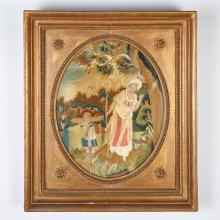 Regency Silk Embroidered Picture