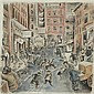 Don Freeman American, 1908-1978 (i) Monday Morning, 1940 (ii) Bustling Street Scene, 1976
