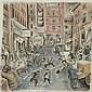 Don Freeman American, 1908-1978 (i) Monday Morning, 1940 (ii) Bustling Street Scene, 1976