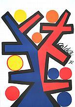 1972 Calder  Asymetrie Lithograph